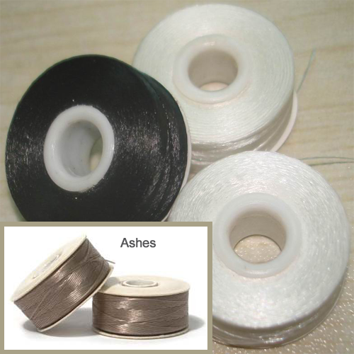 Specialty Bobbin Threads - Style M - 56/box (Sewing Threads) Colors: white, black and ashes