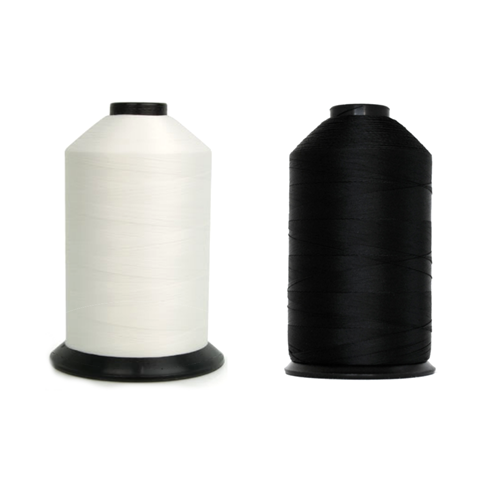 Bonded Polyester Thread - 138 Poly Tex-135 - black - white