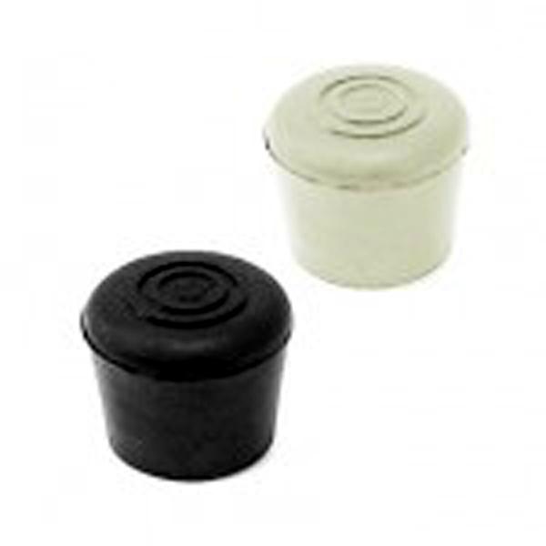 Rubber Foot/Base For Adjustable Support Poles Black/White