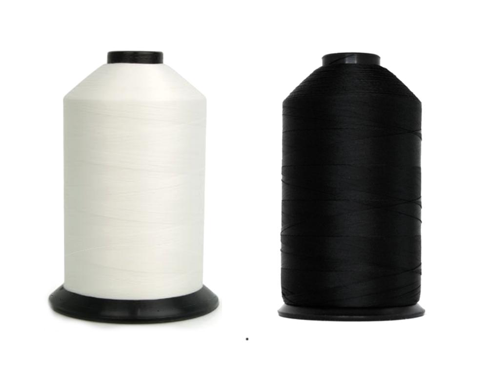 Bonded Nylon Thread - Size 46 - TEX-45 - Colors Black and White