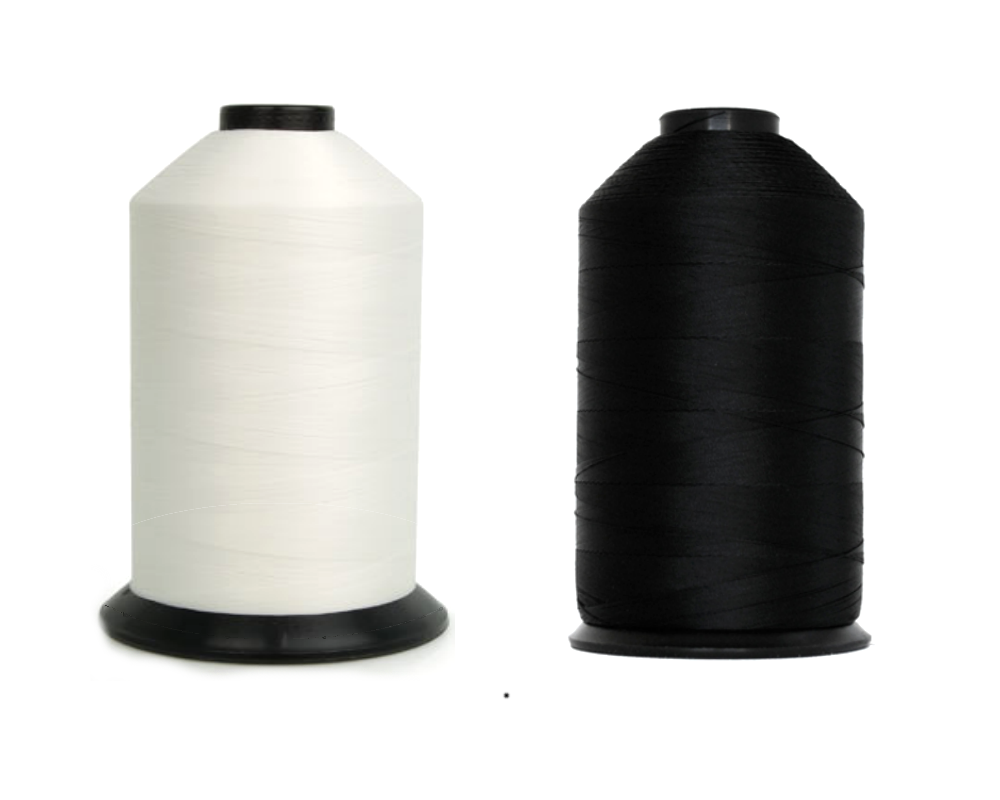 Bonded Nylon Sewing Thread – 138 NYLON TEX-135 - black and white