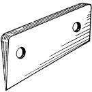 Deck Hinge Wedge - 5 Degrees