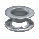 Rolled Rim Grommet -Stainless Steel Self-Piercing Grommets With Spur Washer