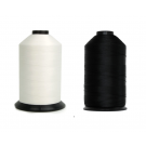 Bonded Nylon Thread - Size 46 - TEX-45 - Colors Black and White