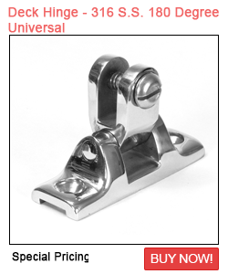 Deck Hinge - 316 S.S. 180 Degree Universal