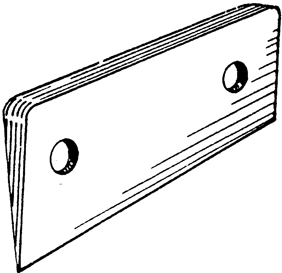 Deck Hinge Wedge - 5 Degrees