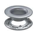 Rolled Rim Grommets - Stainless Steel Self-Piercing With Spur Washers