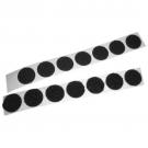Hook Coins - Rubber Based Pressure Sensitive Adhesive - black 25/yd rolls