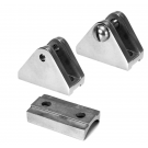 Deck Hinge Flat Base with Hidden Screws - Stainless Steel Marine and Boat Top Hardware Fittings