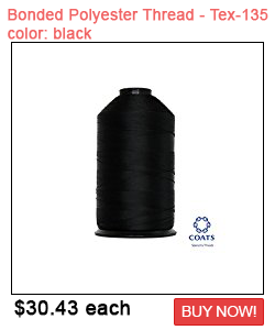 Polyester Thread Size #138 Tex 135 Sale Color:black